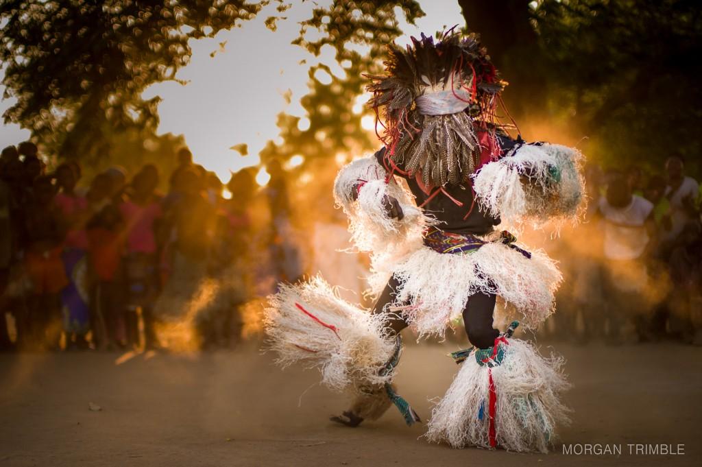 Malawian dancer near Majete Wildlife Reserve