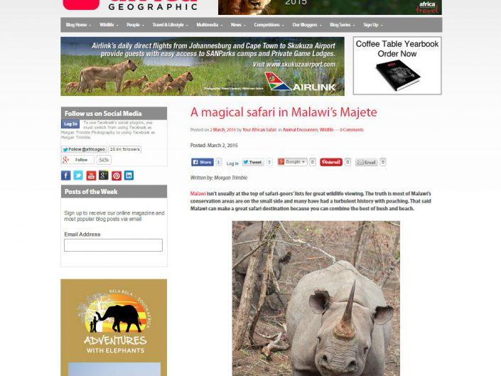 A magical safari in Malawi's Majete