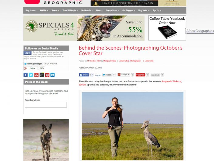 Behind the scenes: Photographing October's cover star