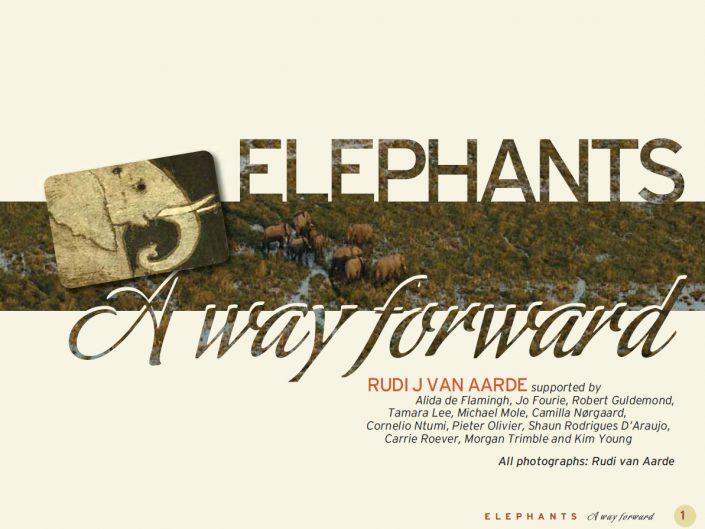 Elephants: a way forward