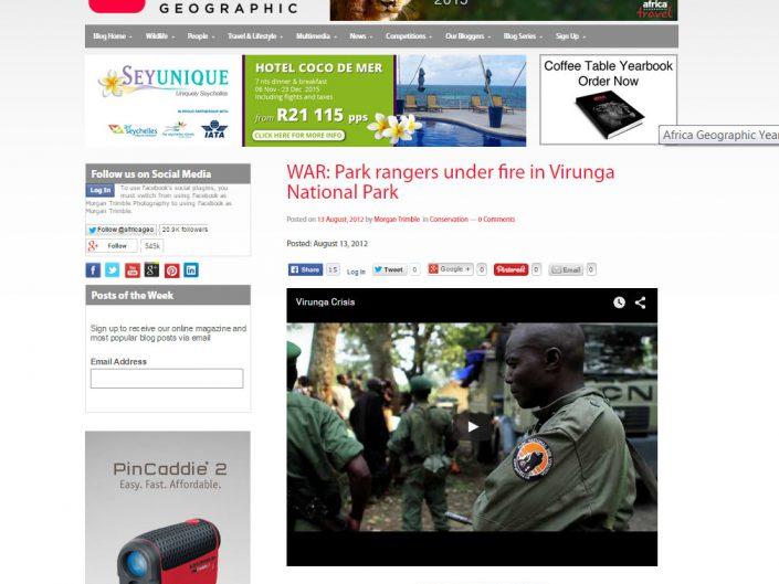 War: Park rangers under fire in Virunga National Park