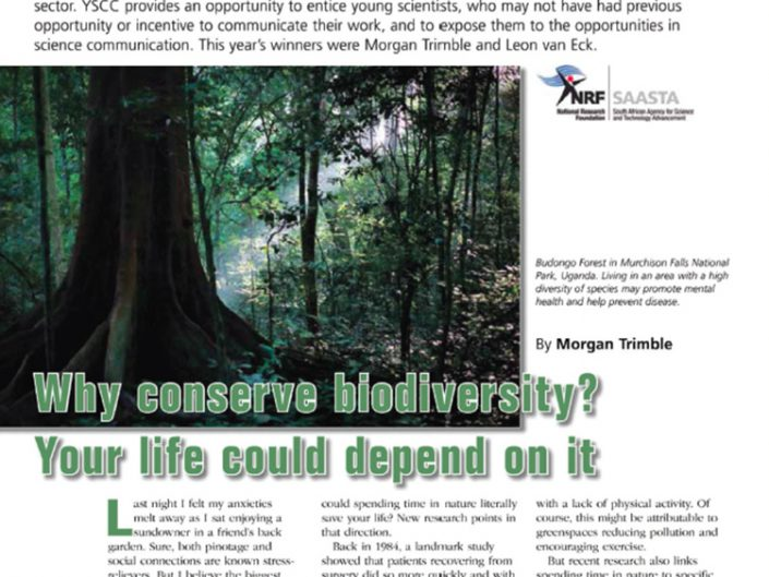 Why Conserve Biodiversity? Your Life Could Depend on It
