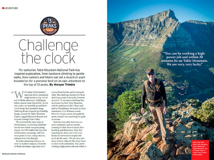 Challenge the Clock: Table Mountain National Park's 13 Peaks
