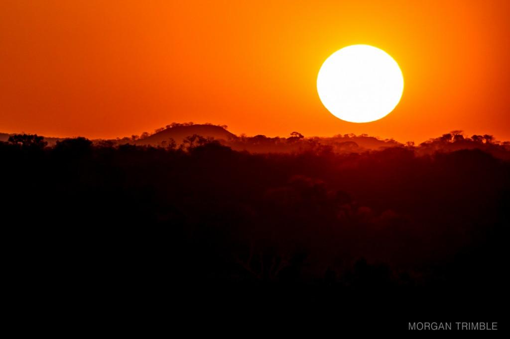 Sunset over Majete