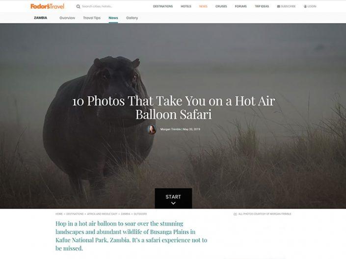 10 Photos that take you on a Hot Air Balloon Safari